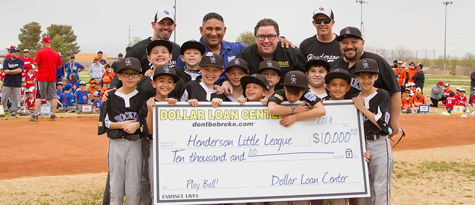 Dollar Loan Center donates $10,000 to the Henderson NV Little League